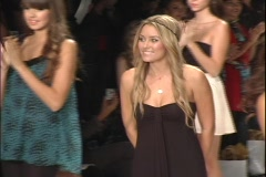 "Lauren Conrad from ""The Hills"" at her Fashion Show  Stock Footage"