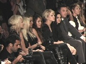Miley Cyrus Watching Fashion Show Stock Footage