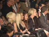 Miley Cyrus Watching Fashion Show 2 Stock Footage
