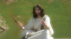 Stock Video Footage of Jesus actor sits 1