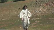 Jesus walk 1 Stock Footage