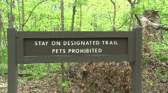 Stay on Designated Trail Sign Stock Footage