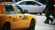 Two NYC taxi clips Stock Footage