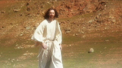 Jesus walk 3 Stock Footage