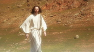 Jesus walk 3 Stock Footage