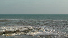 Pumped sea water Stock Footage