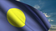 Stock Video Footage of Palau flag