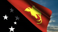 Stock Video Footage of Papua New Guinea flag