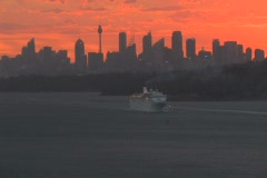 Cruise Liner Leaving Sydney Harbour NTSC Stock Footage