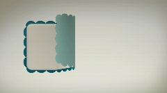 Scalloped Sticker Rolling In and Out with Alpha Matte HD Stock Footage