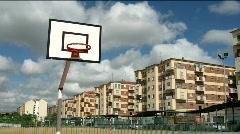 Street basketball table Stock Footage
