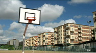 Street basketball table Stock Footage