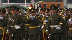 Military orchestra Stock Footage