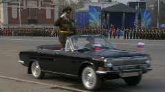 Victory Day Parade 2009 9 Stock Footage