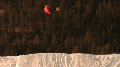 Andreas Wiig snowboard bs720 indygrab Stock Footage
