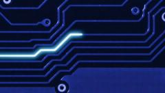 Motherboard lines - information flow background Stock Footage