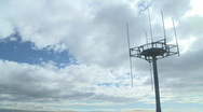 Stock Video Footage of cell tower and clouds timelapse