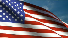 United States of America Flag - stock footage