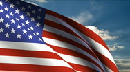 United States of America Flag Stock Footage