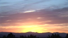 Santa Fe Sunset Time Lapse 2 of 3 - stock footage