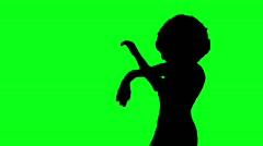 Belly dance green screen - HD  Stock Footage