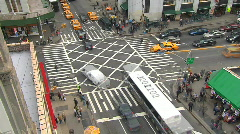 New York City busy intersection time-lapse from above Stock Footage