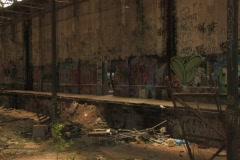 Derelict Train / Tram with graffiti NTSC Stock Footage