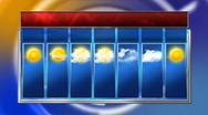 HD 7 day weather forecast Stock Footage