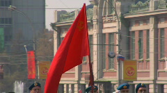 Red banner of a victory of the USSR Stock Footage
