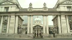 Exterior Office of Taoiseach Stock Footage