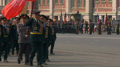 Victory Day Parade 2009 20 Stock Footage