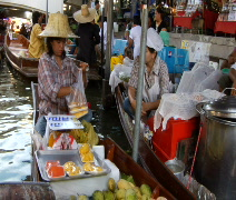 Floating Market in Thailand Stock Footage
