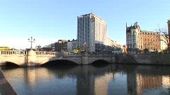 O'Connell Bridge, Dublin - stock footage