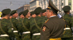 Victory Day Parade 2009 27 Stock Footage