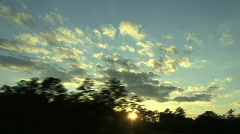Sunset From Interstate Stock Footage