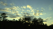 Stock Video Footage of Sunset From Interstate
