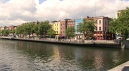 Stock Video Footage of River Liffey from O'Connell Bridge