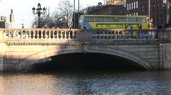 O'Connell Bridge, Dublin from the River Liffey - stock footage