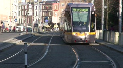 Luas Trams at St. Stephen's Green, Dublin Stock Footage
