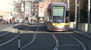 Stock Video Footage of Luas Trams at St. Stephen's Green, Dublin