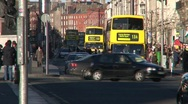 Stock Video Footage of O'Connell Bridge, Dublin