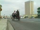Stock Video Footage of horse buggy bike in havana