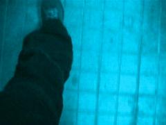 VJ Loop walking blues lr - stock footage