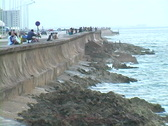 Stock Video Footage of malecon at the edge of the sea