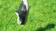 Throw shoe Stock Footage
