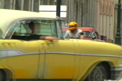 old cars in havana 3 - stock footage