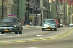 old cars in havana 4 - stock footage