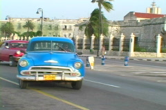 Old cars in havana 5 Stock Footage