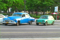 Old cars in havana 6 Stock Footage