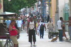 people on the streets havana 2 - stock footage